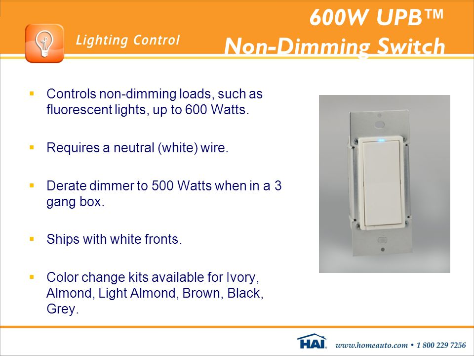 600W UPB™ Non-Dimming Switch