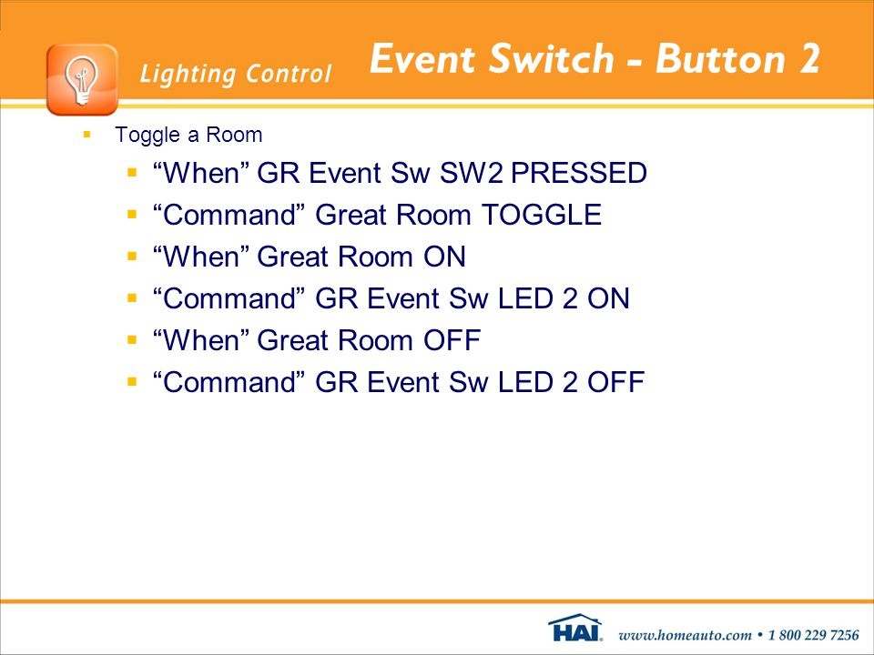 Event Switch - Button 2 When GR Event Sw SW2 PRESSED