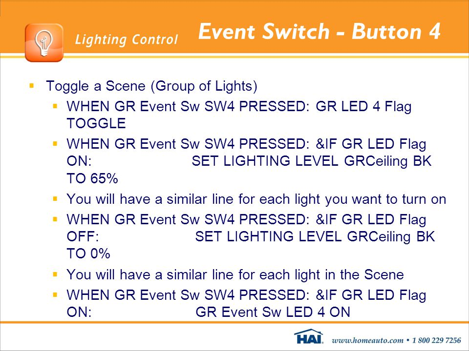Event Switch - Button 4 Toggle a Scene (Group of Lights)
