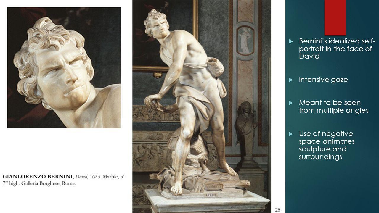 Bernini's idealized self- portrait in the face of David