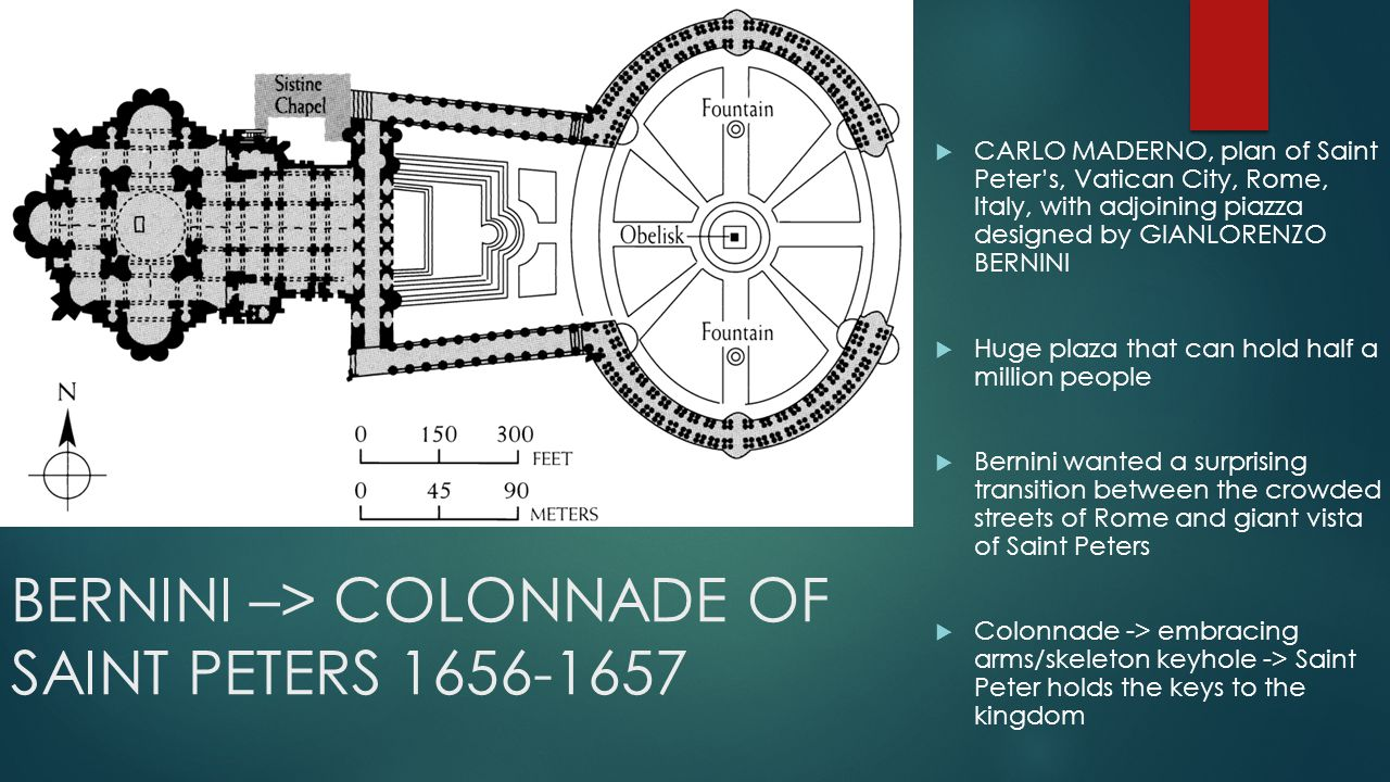 BERNINI –> COLONNADE OF SAINT PETERS 1656-1657