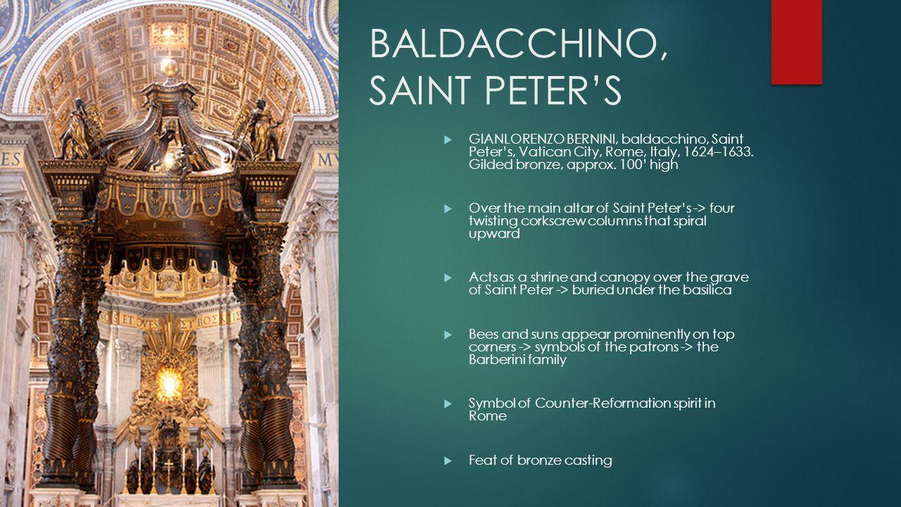 BALDACCHINO, SAINT PETER'S