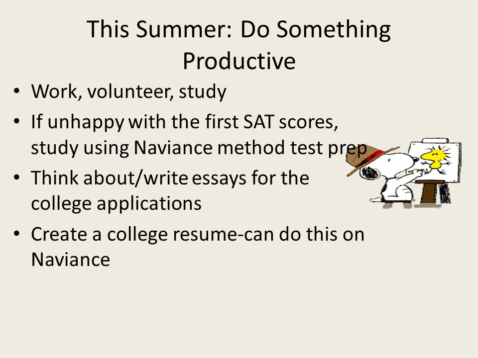 This Summer: Do Something Productive