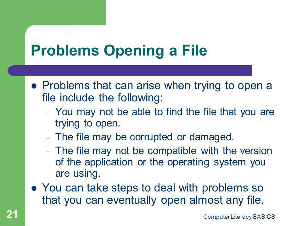 Problems Opening a File