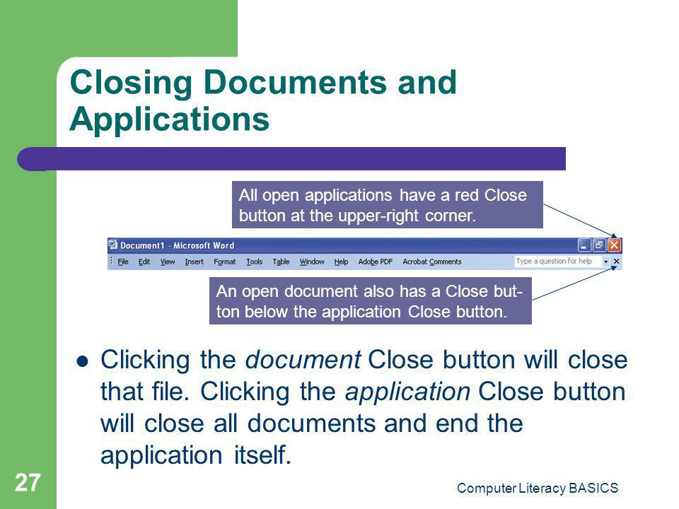 Closing Documents and Applications
