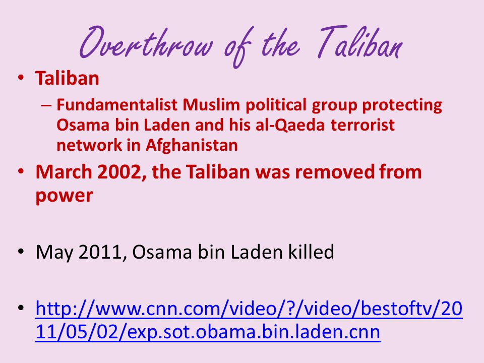 Overthrow of the Taliban