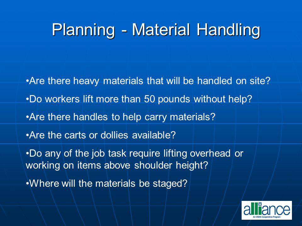 Planning - Material Handling