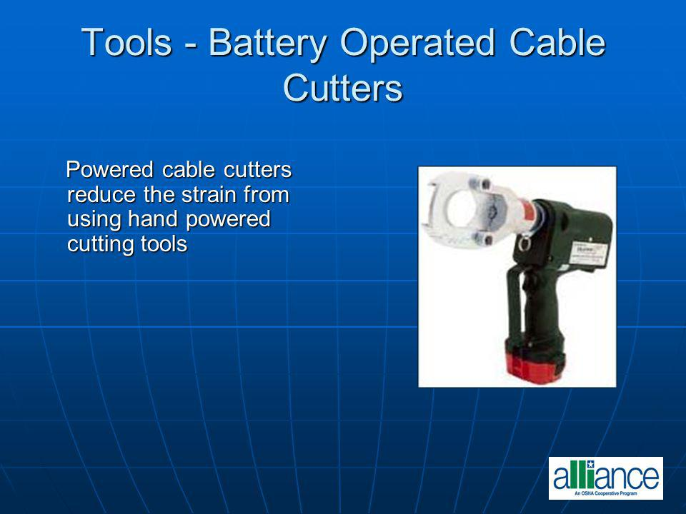 Tools - Battery Operated Cable Cutters