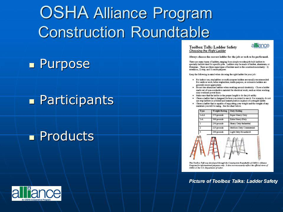 OSHA Alliance Program Construction Roundtable