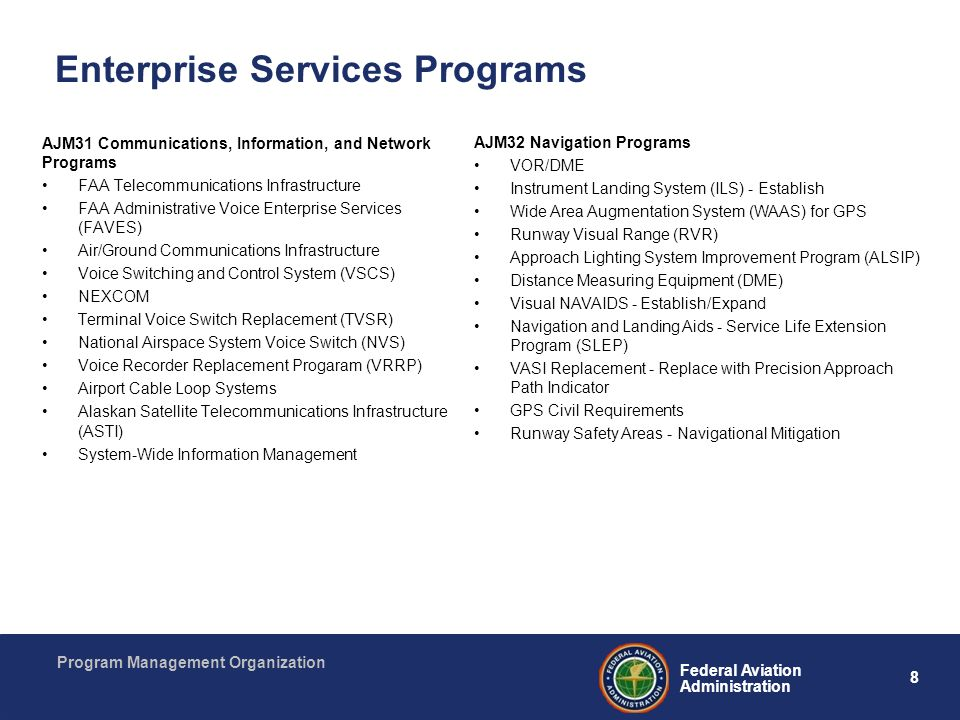 Enterprise Services Programs