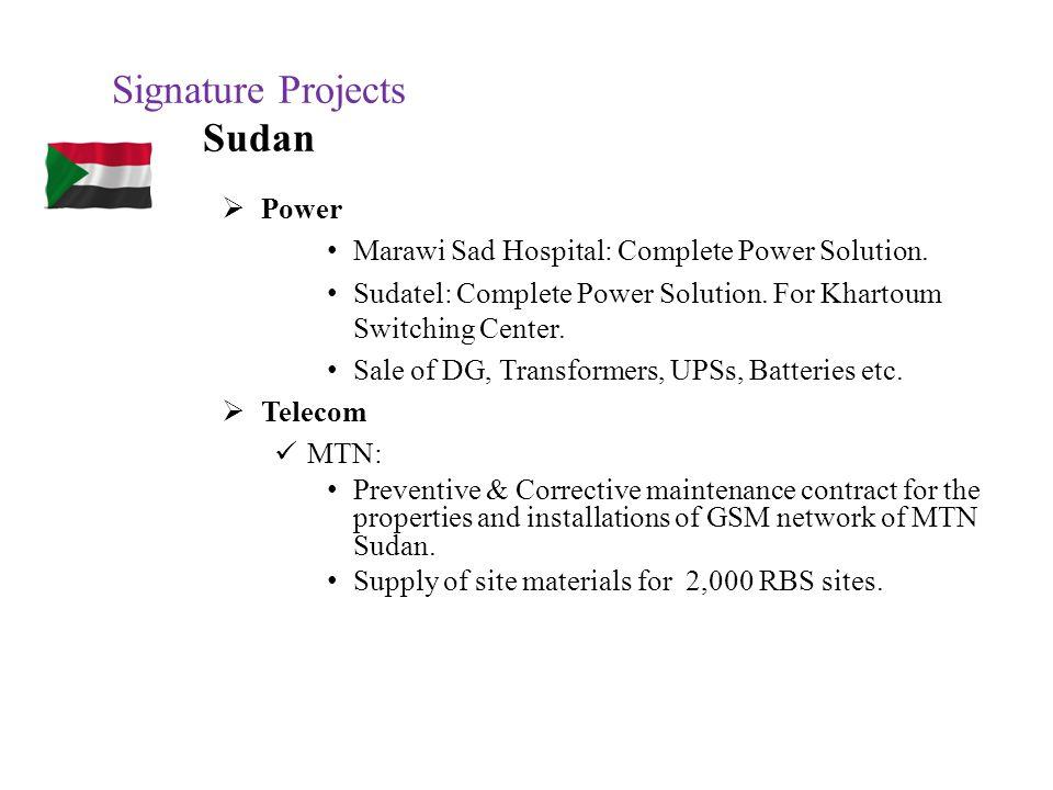 Signature Projects Sudan