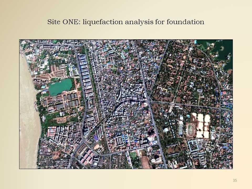 Site ONE: liquefaction analysis for foundation