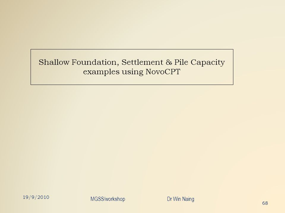 Shallow Foundation, Settlement & Pile Capacity examples using NovoCPT