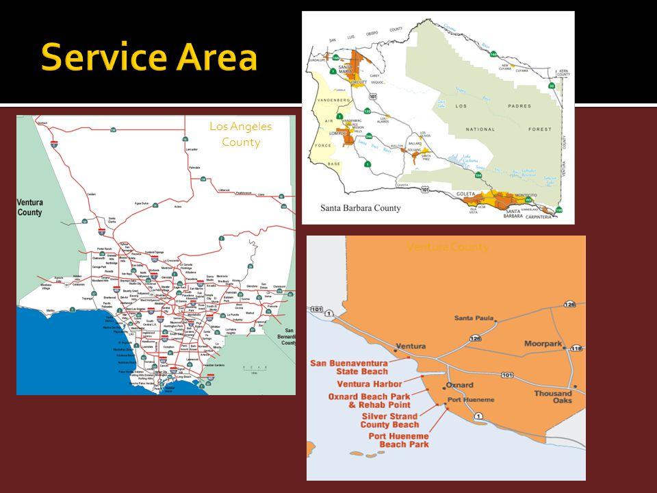 Service Area Los Angeles County Ventura County