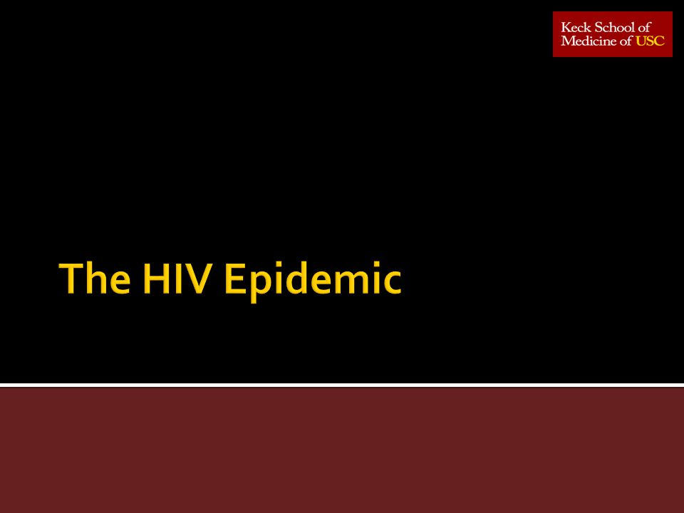 The HIV Epidemic