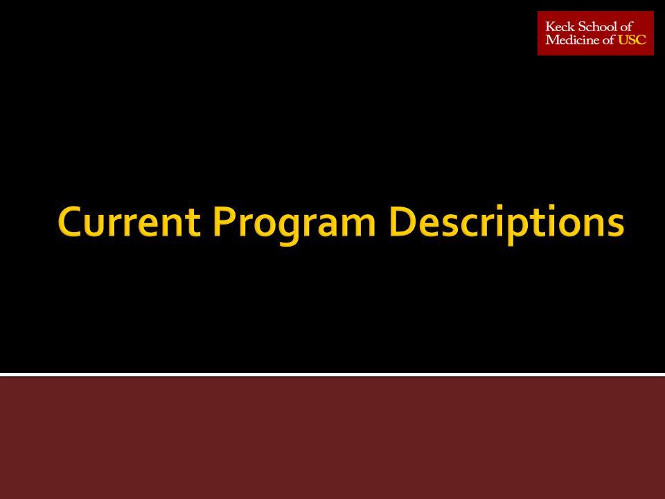 Current Program Descriptions