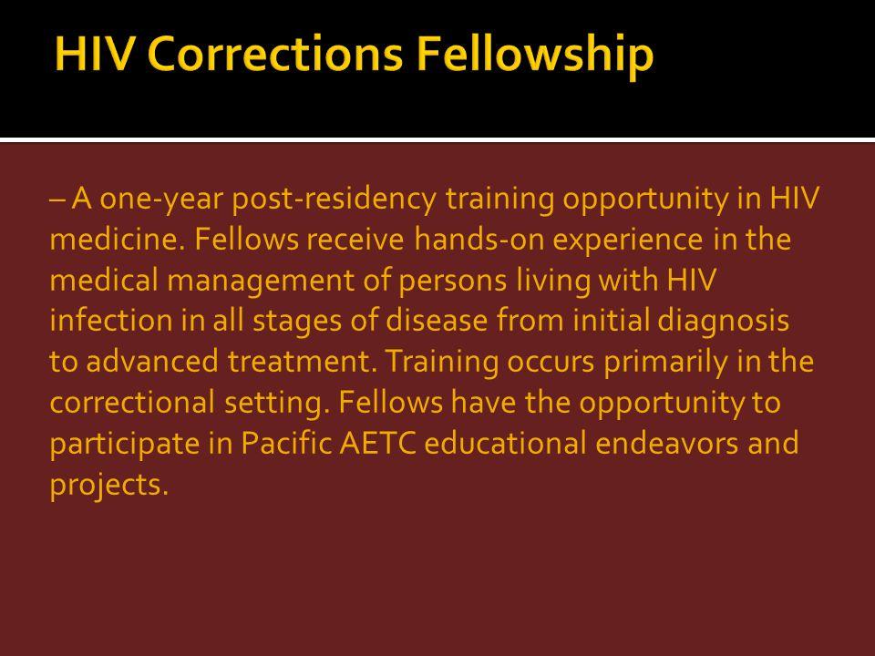 HIV Corrections Fellowship