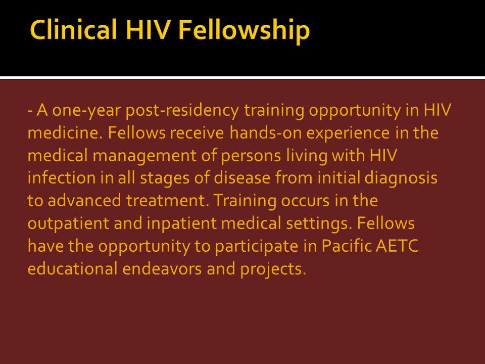 Clinical HIV Fellowship
