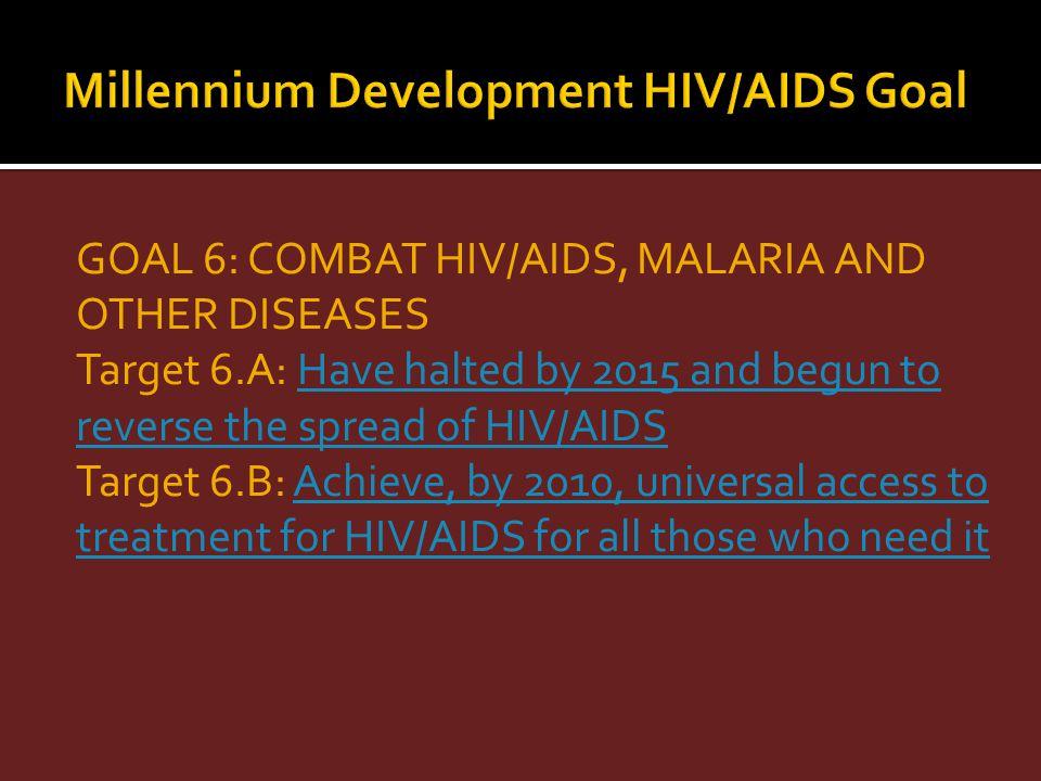 Millennium Development HIV/AIDS Goal