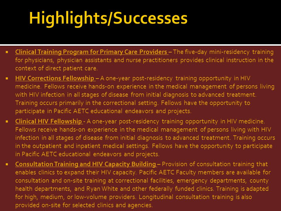 Highlights/Successes