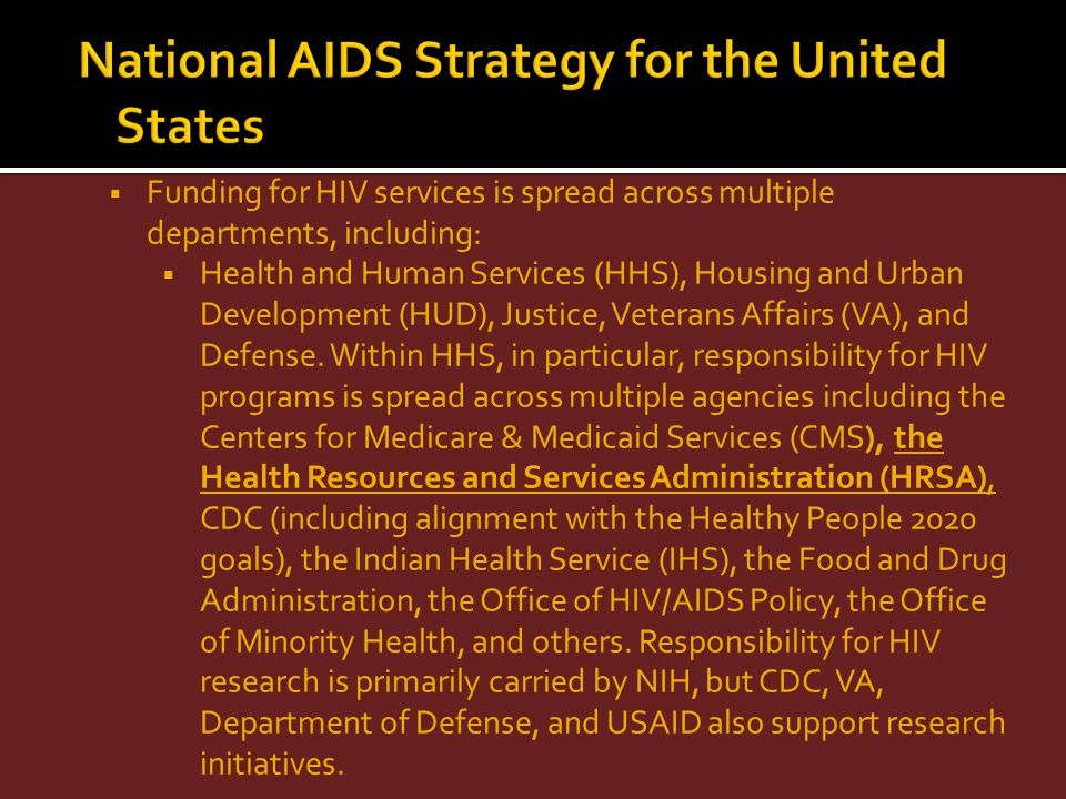 National AIDS Strategy for the United States
