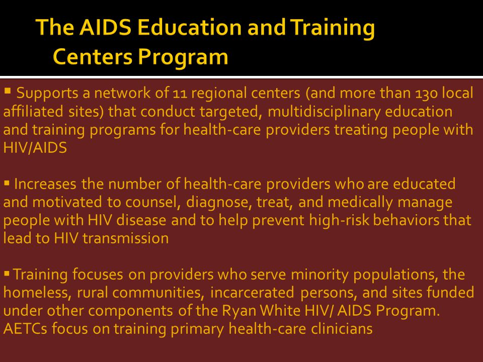 The AIDS Education and Training Centers Program
