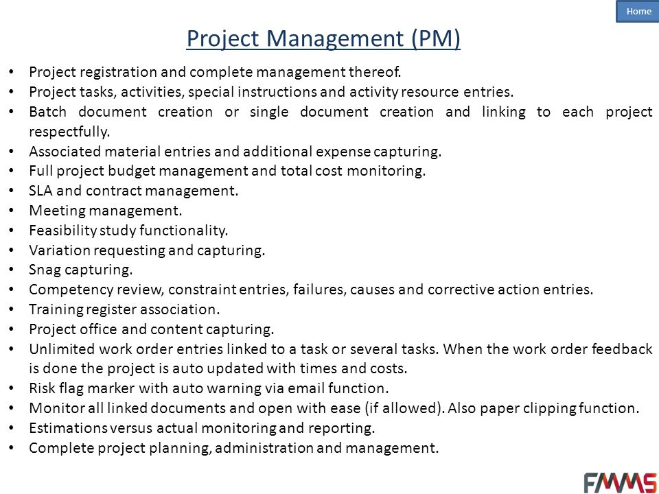 Project Management (PM)