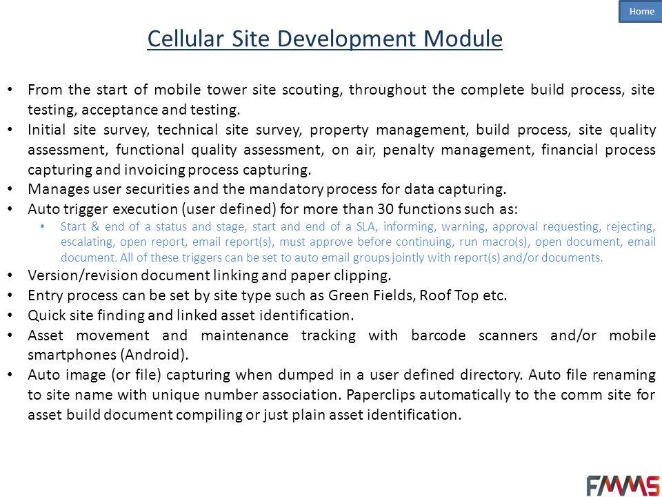 Cellular Site Development Module