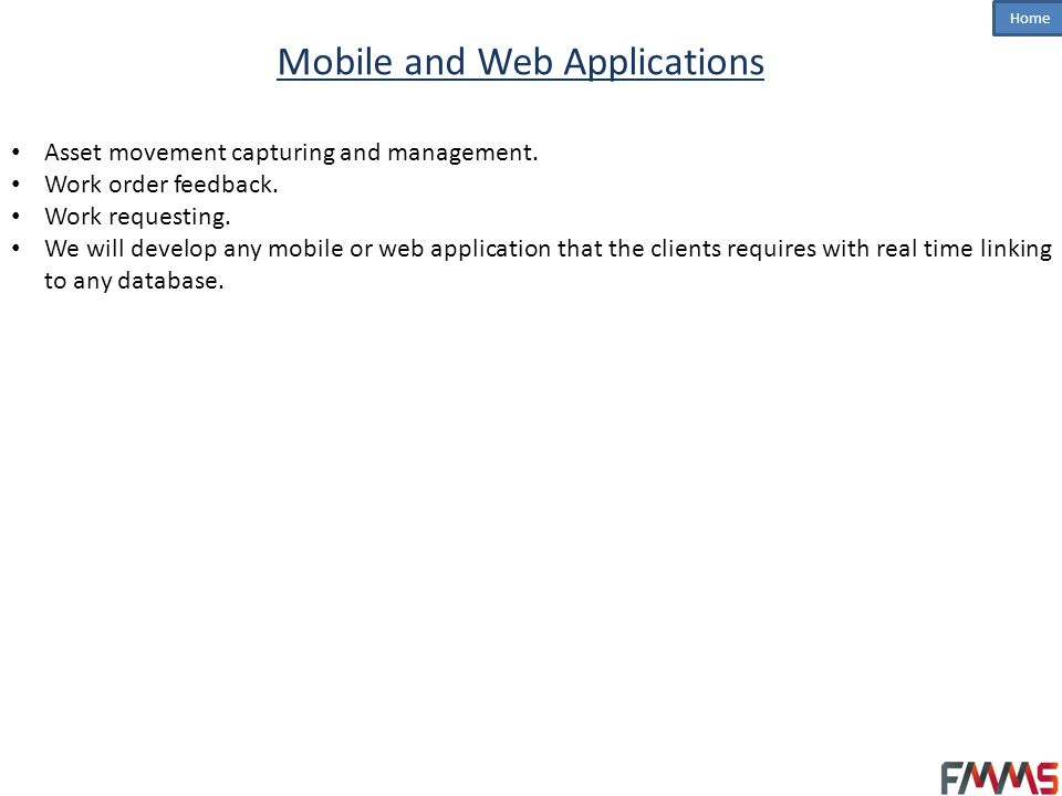 Mobile and Web Applications