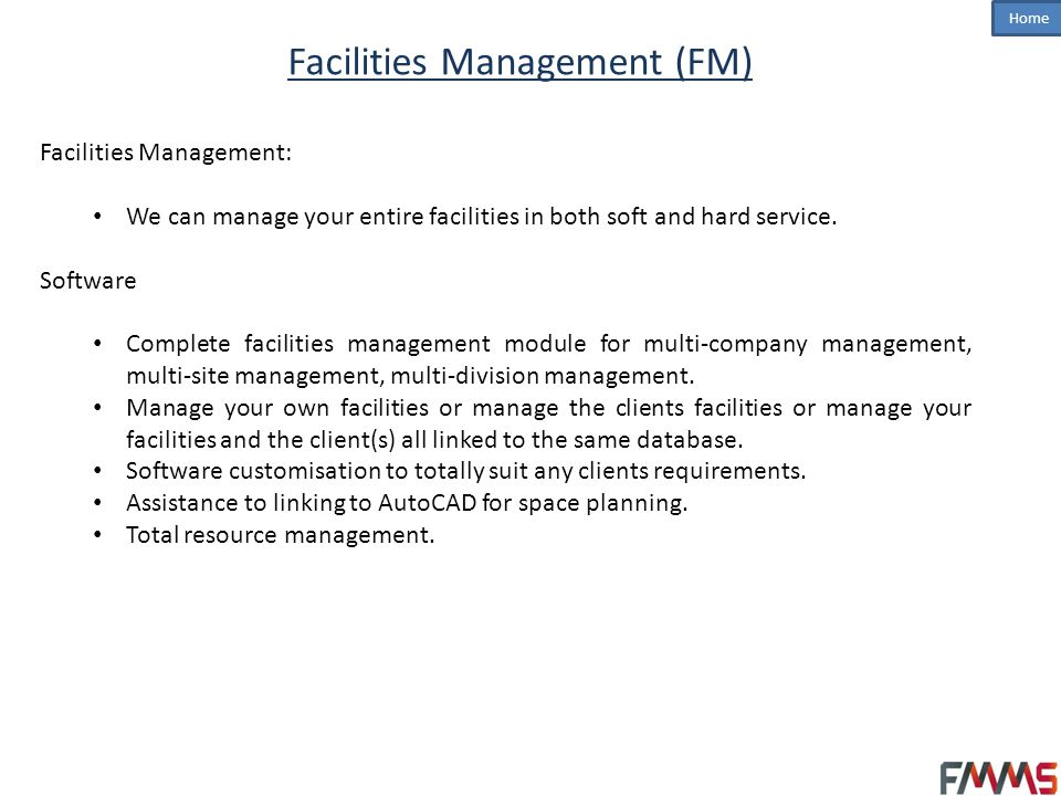 Facilities Management (FM)