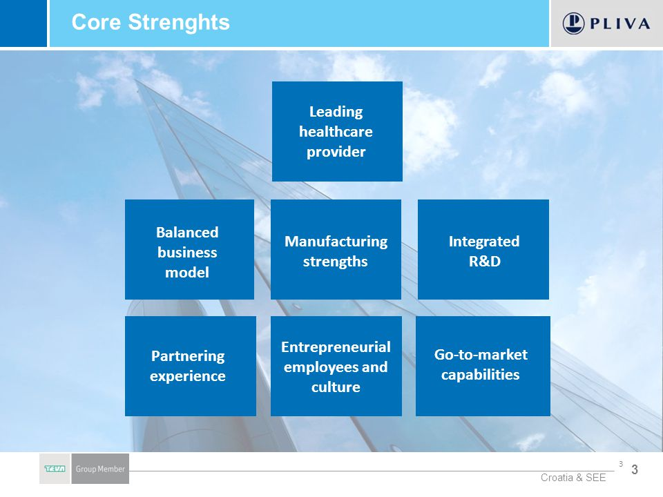 Core Strenghts Leading healthcare provider Balanced business model