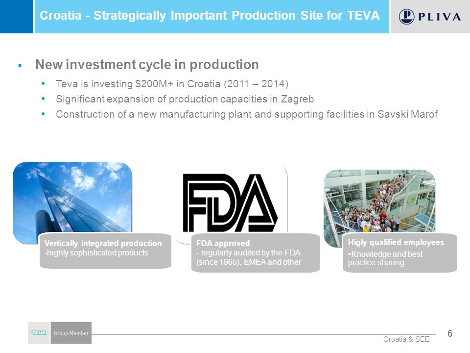Croatia - Strategically Important Production Site for TEVA