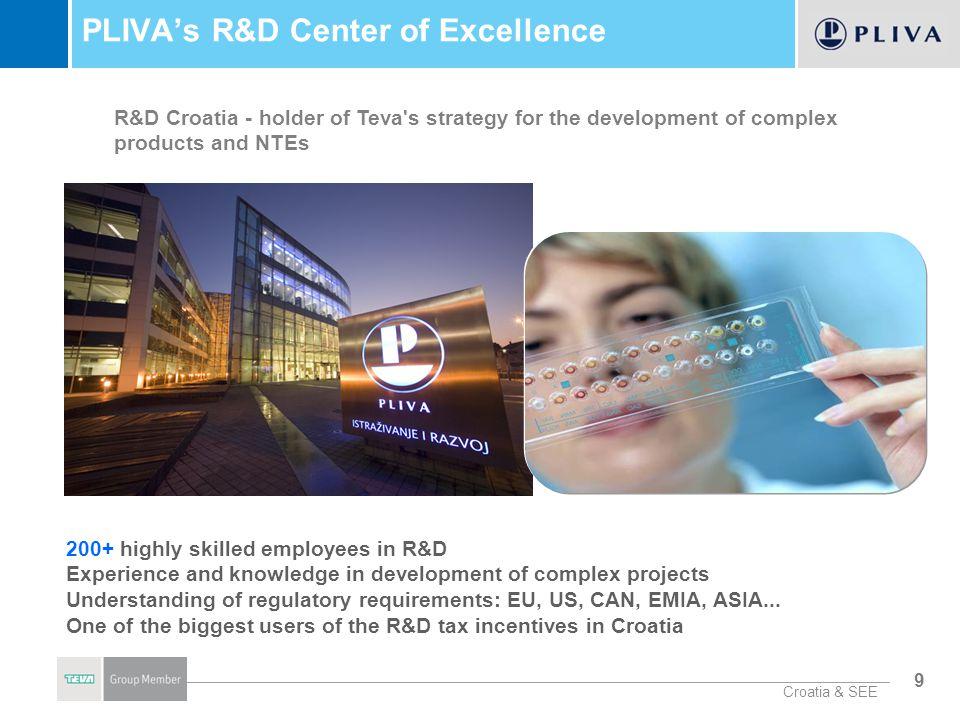 PLIVA's R&D Center of Excellence
