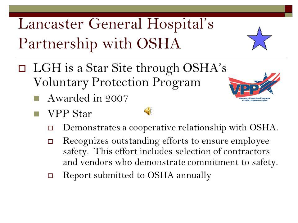 Lancaster General Hospital's Partnership with OSHA