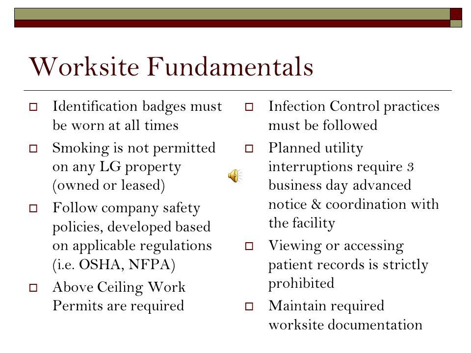 Worksite Fundamentals