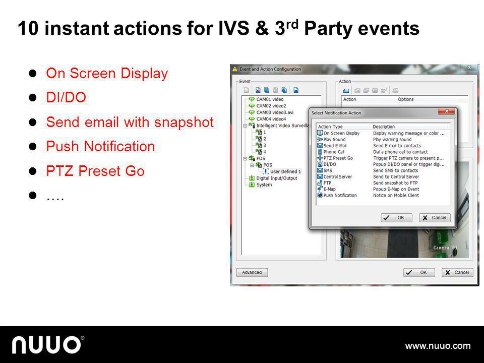 10 instant actions for IVS & 3rd Party events