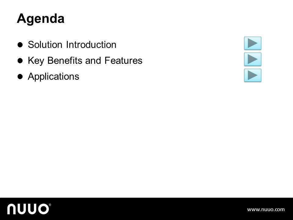 Agenda Solution Introduction Key Benefits and Features Applications