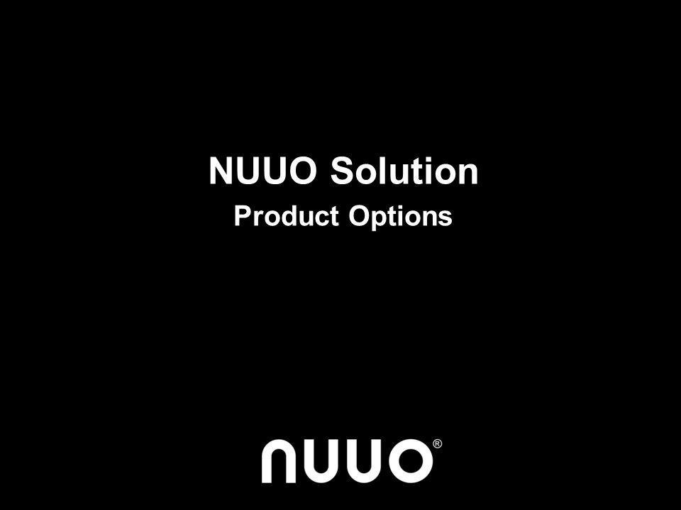 NUUO Solution Product Options