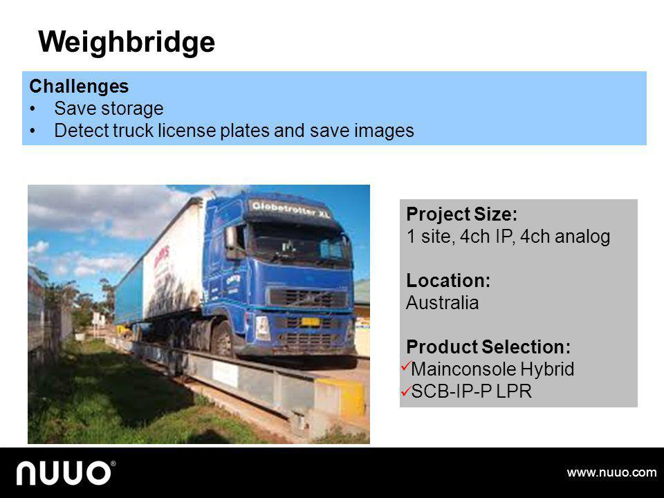 Weighbridge Challenges Save storage
