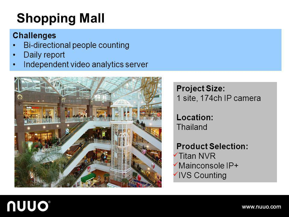 Shopping Mall Challenges Bi-directional people counting Daily report