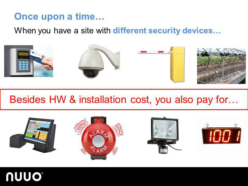 Besides HW & installation cost, you also pay for…