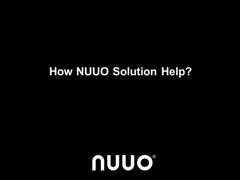 How NUUO Solution Help