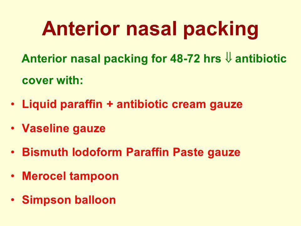 Anterior nasal packing