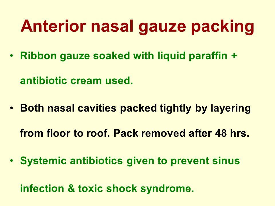Anterior nasal gauze packing