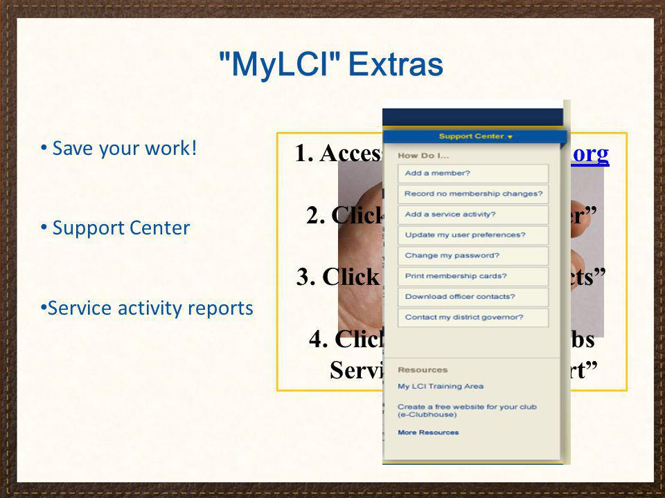 That completes our review of MyLCI .