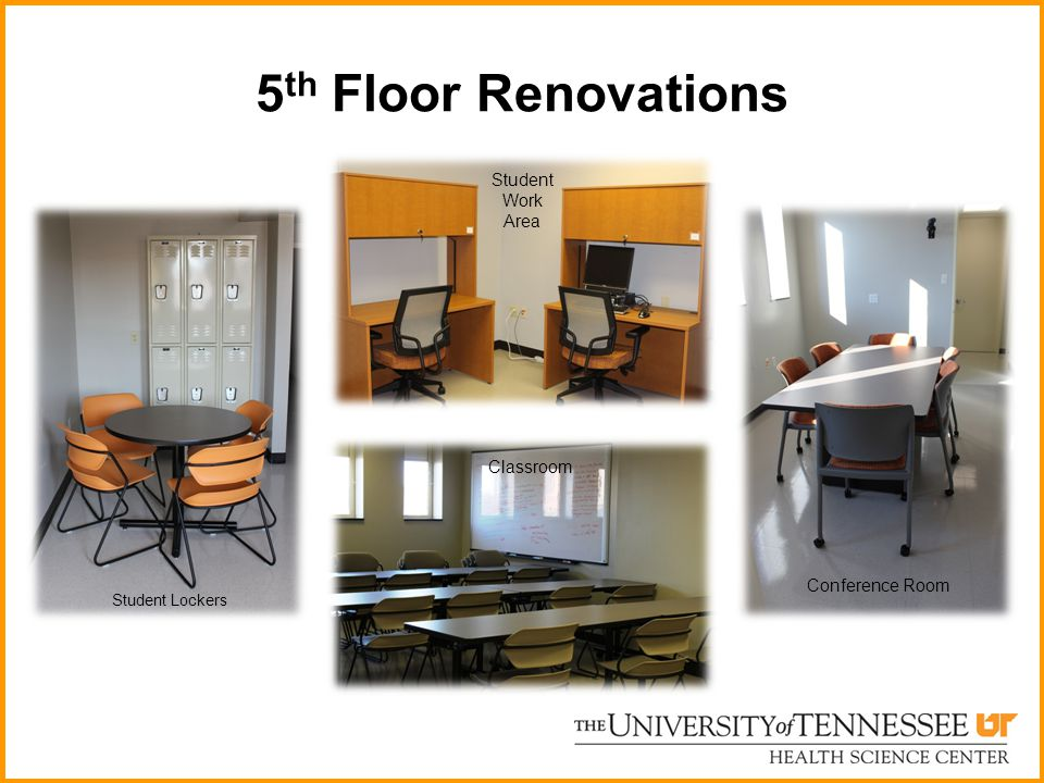 5th Floor Renovations Student Work Area Classroom Conference Room