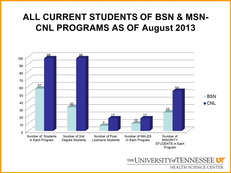 ALL CURRENT STUDENTS OF BSN & MSN-CNL PROGRAMS AS OF August 2013