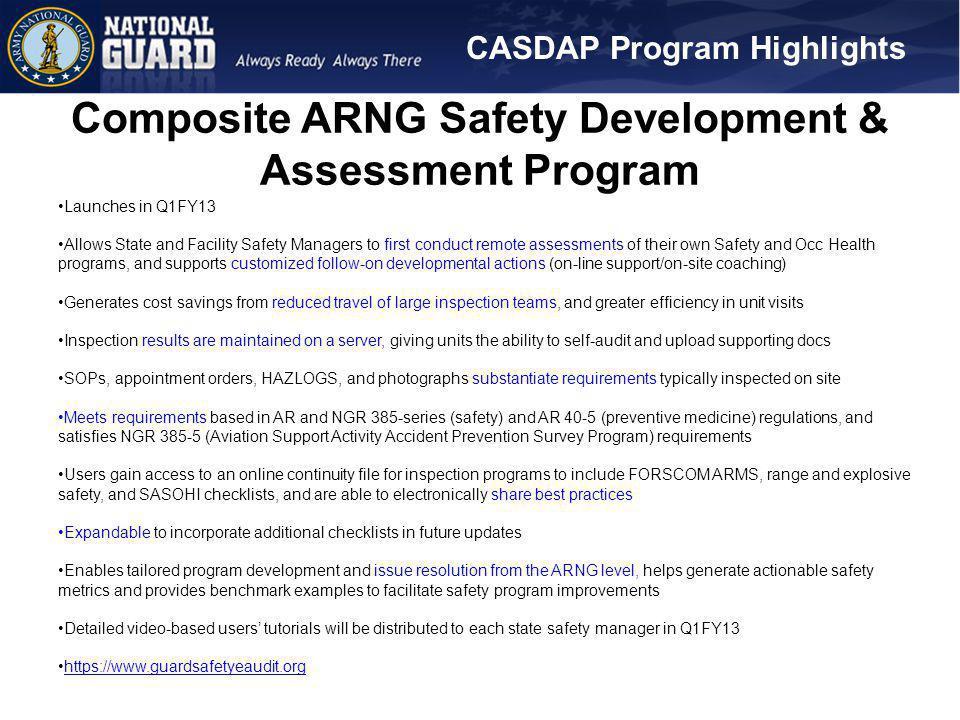 Composite ARNG Safety Development & Assessment Program