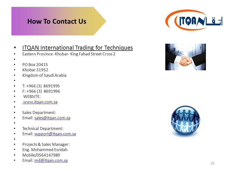 How To Contact Us ITQAN International Trading for Techniques