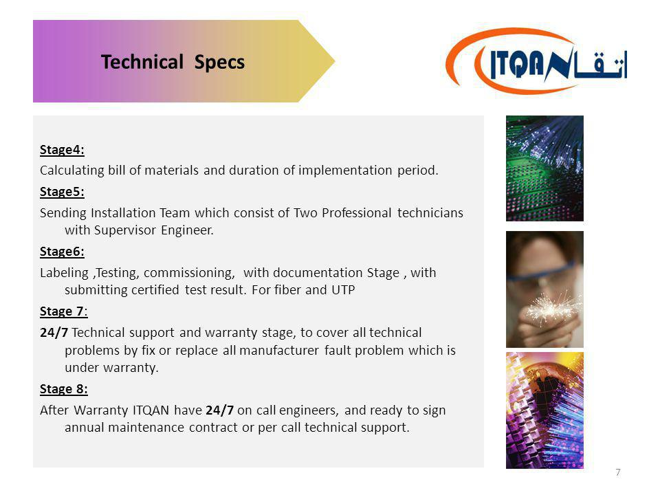 Technical Specs Stage4: